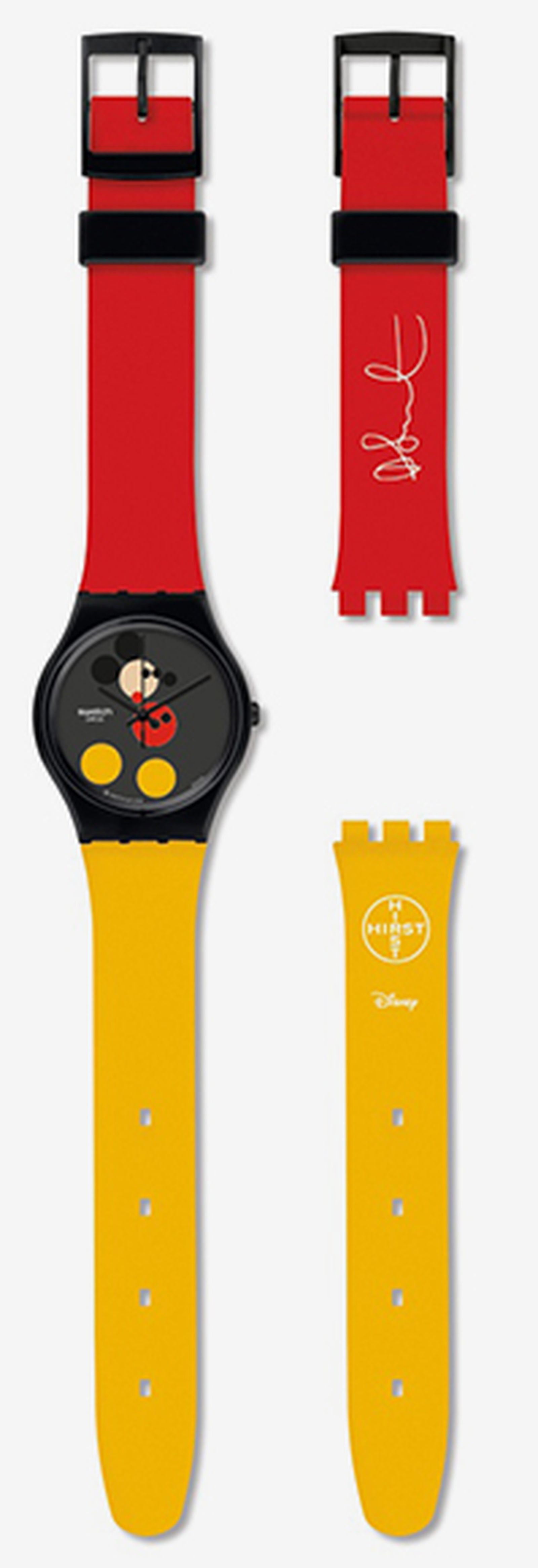 damien hirst mickey mouse swatch