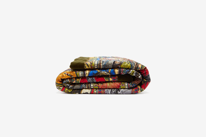 Animal-Print Silk And Velvet Eiderdown