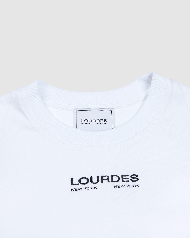 Lourdes NYC - Logo Tee - White - Image 3