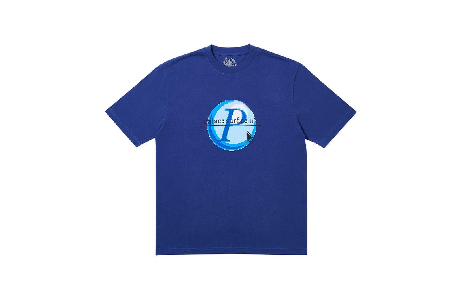 Palace 2019 Autumn T Shirt Log On blue