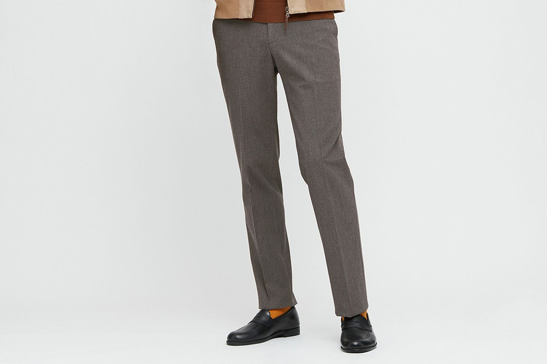 Heattech Smart Houndstooth Slim-Fit Pants