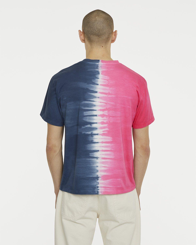 Aries - Tie Dye Half and Half Tee Blue/Fuchsia - Image 5