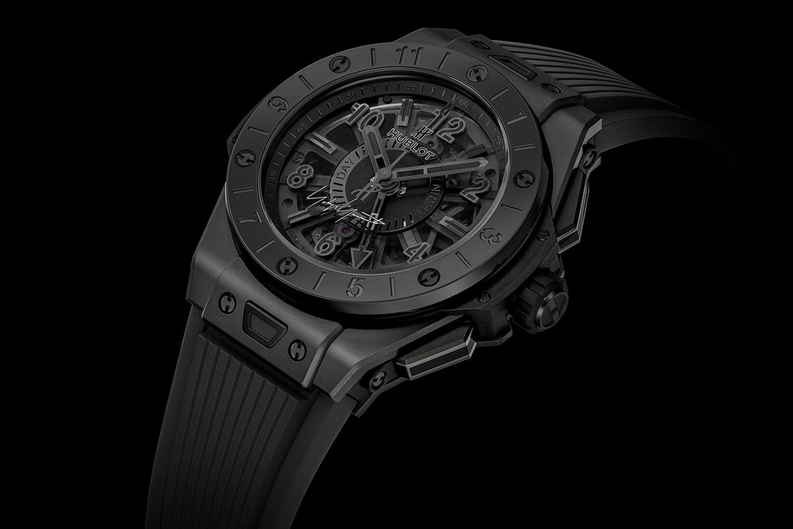 Yohji Yamamoto x Hublot Big Bang GMT All Black Watch