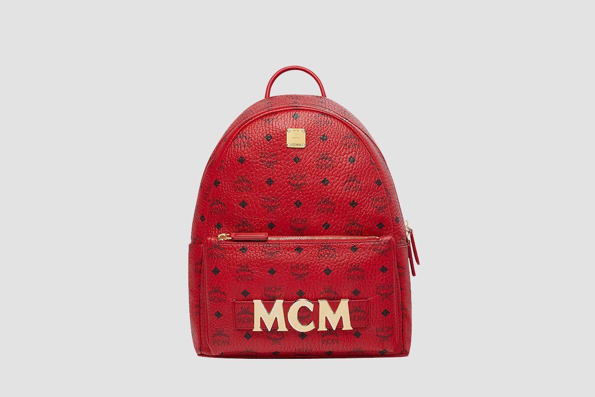 MCM x RED Trilogie Stark Backpack in Visetos