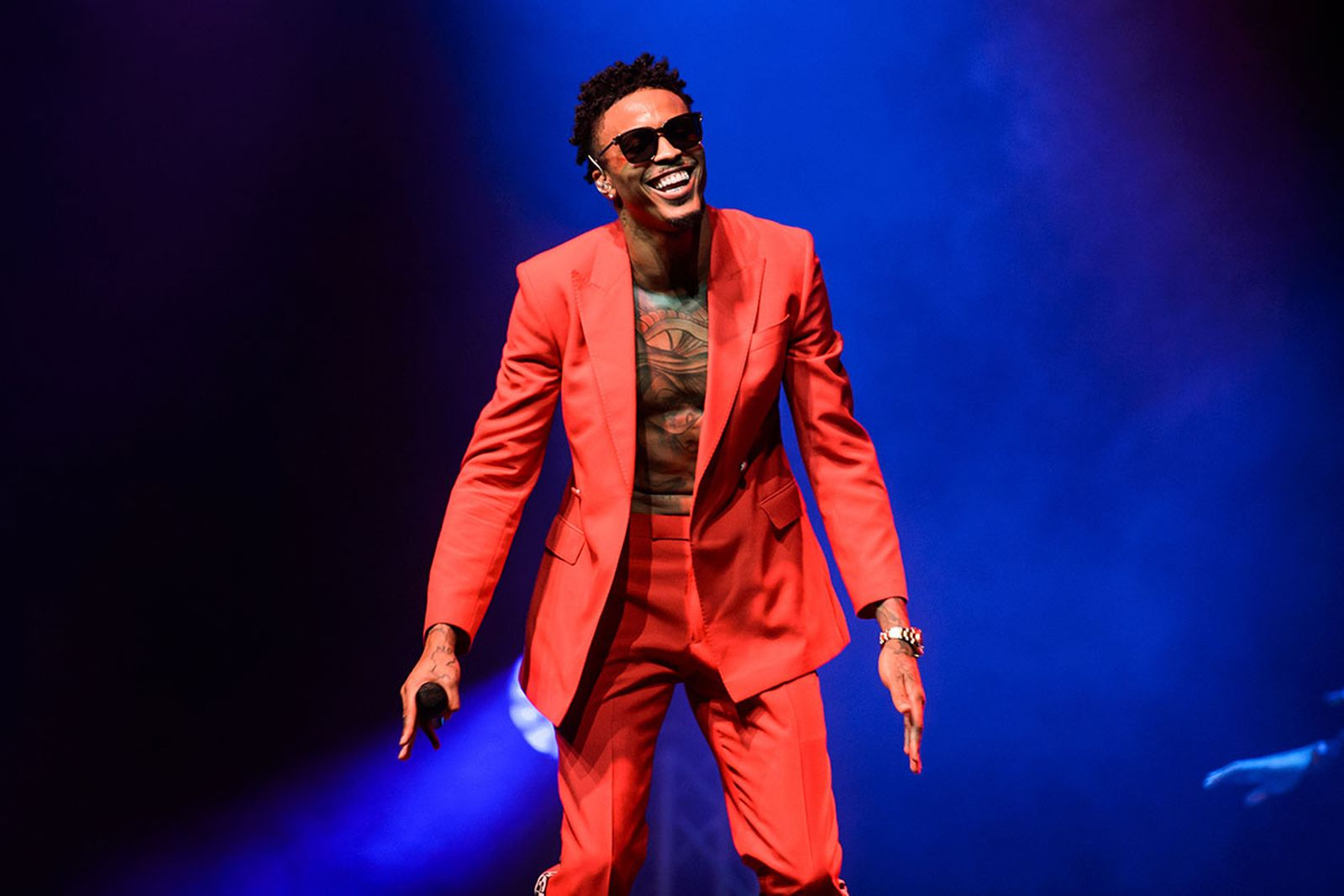 August Alsina performs live on stage at Indigo at The O2 Arena