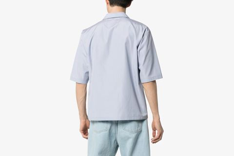 Zip Up Cotton Shirt