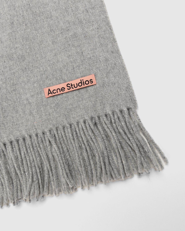 Acne Studios – Canada New Scarf Light Grey Melange - Image 3