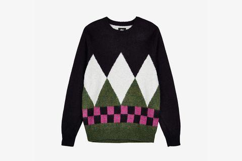 Diamond Check Mohair Sweater
