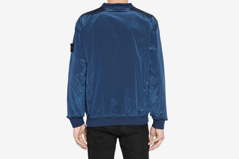 Crewneck Nylon Metal Sweatshirt
