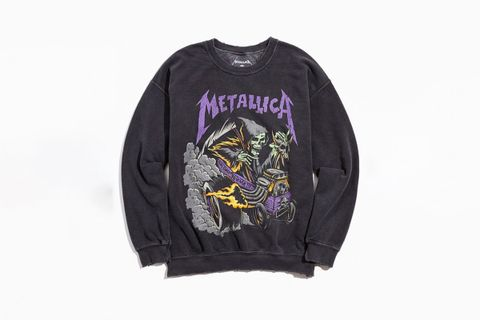 Metallica Distressed Washed Crewneck Sweatshirt
