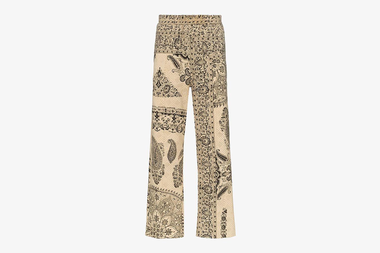 Iranian Print Cotton Sweat Pants