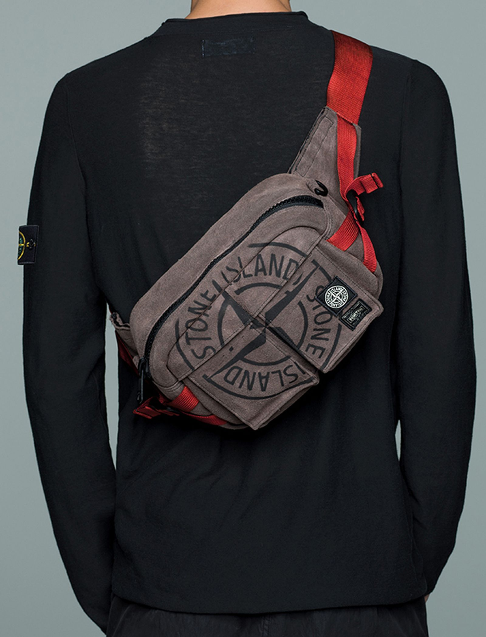 stone island porter garment dyed bags