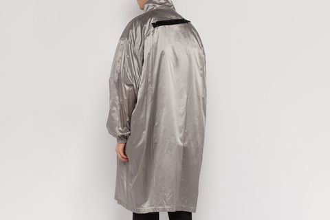 T-Shirt-Lined Metallic Raincoat