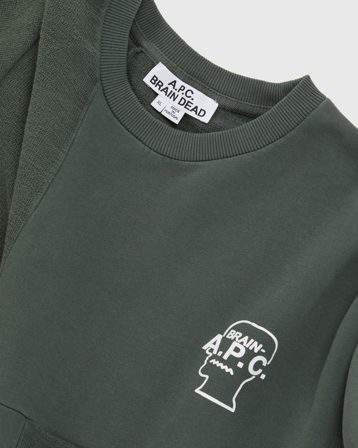 A.P.C. x BRAIN DEAD — Pony Grey Green - Image 3
