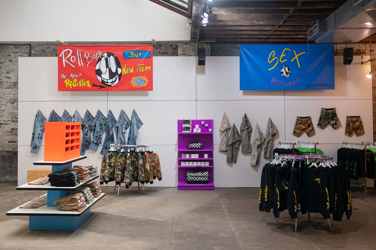 chrome hearts sex records new york pop up store collection inside look