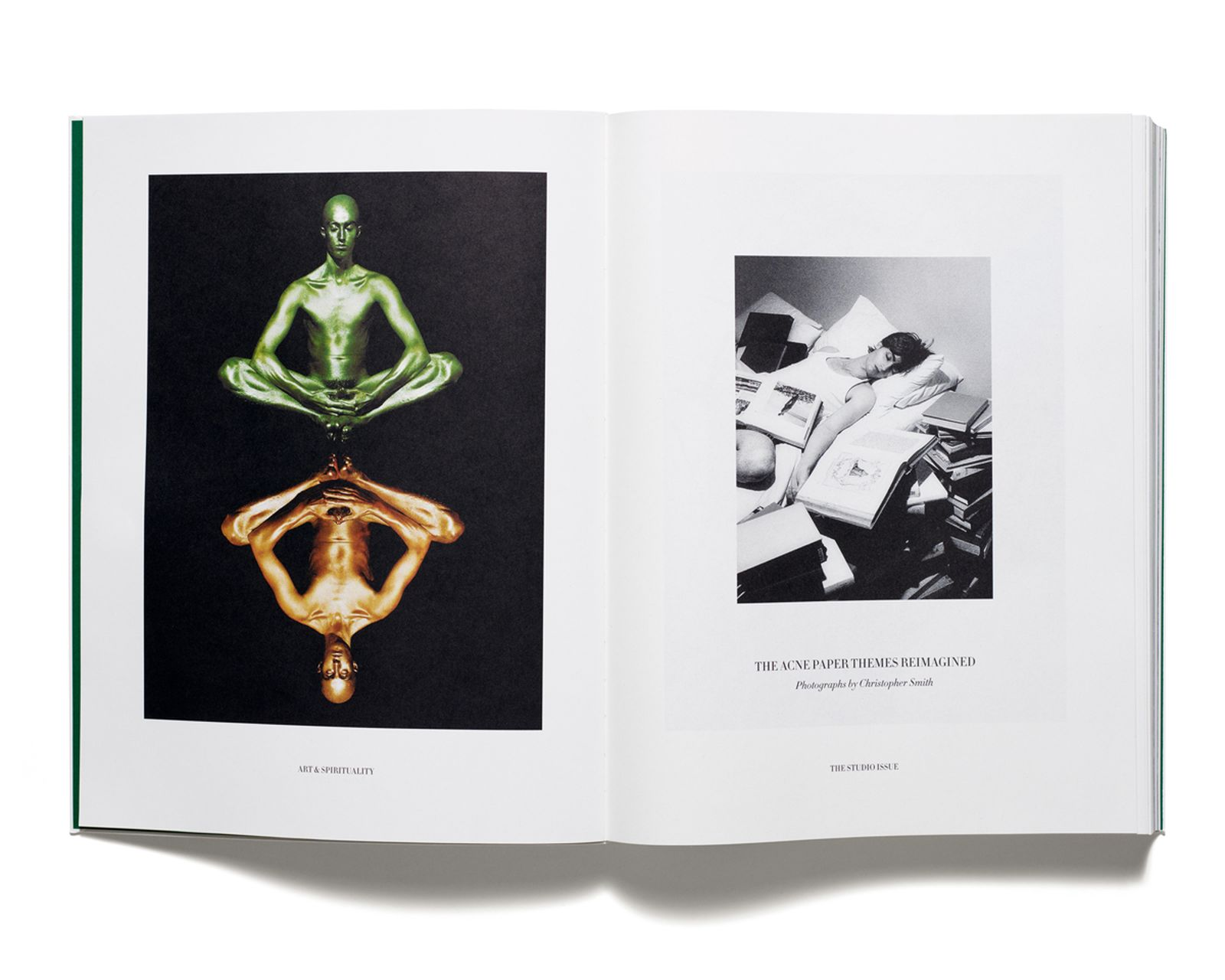 """THE ACNE PAPER THEMES REIMAGINED - """"Art & Spirituality"""" and """"The Studio"""" Photographs by Christopher Smith"""