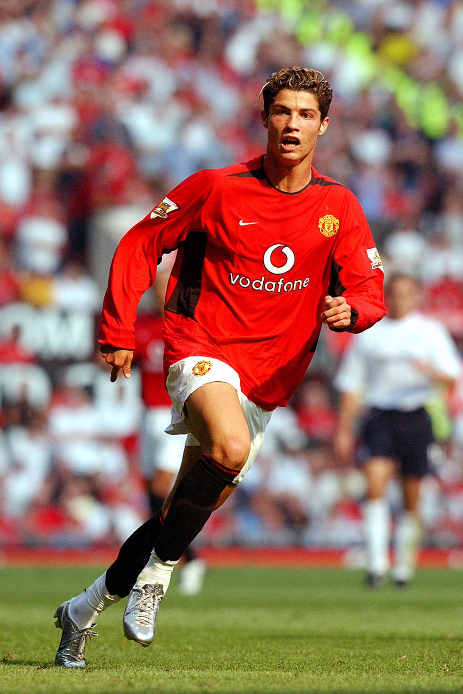 Ronaldo in action during the FA Barclaycard Premiership match between Manchester United v Bolton Wanderers at Old Trafford on August 16, 2003 in Manchester, England.