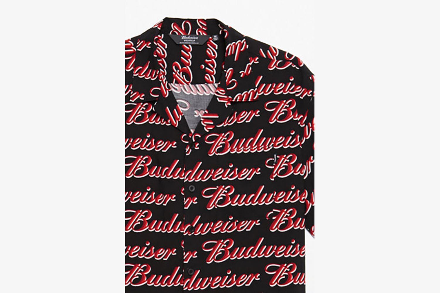 All-Over Printed Short-Sleeve Button-Up