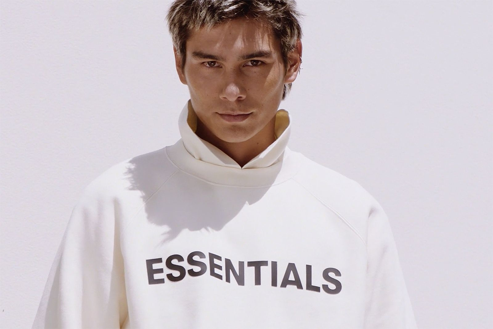 Evan Mock Fear of God ESSENTIALS Spring 2020 campaign