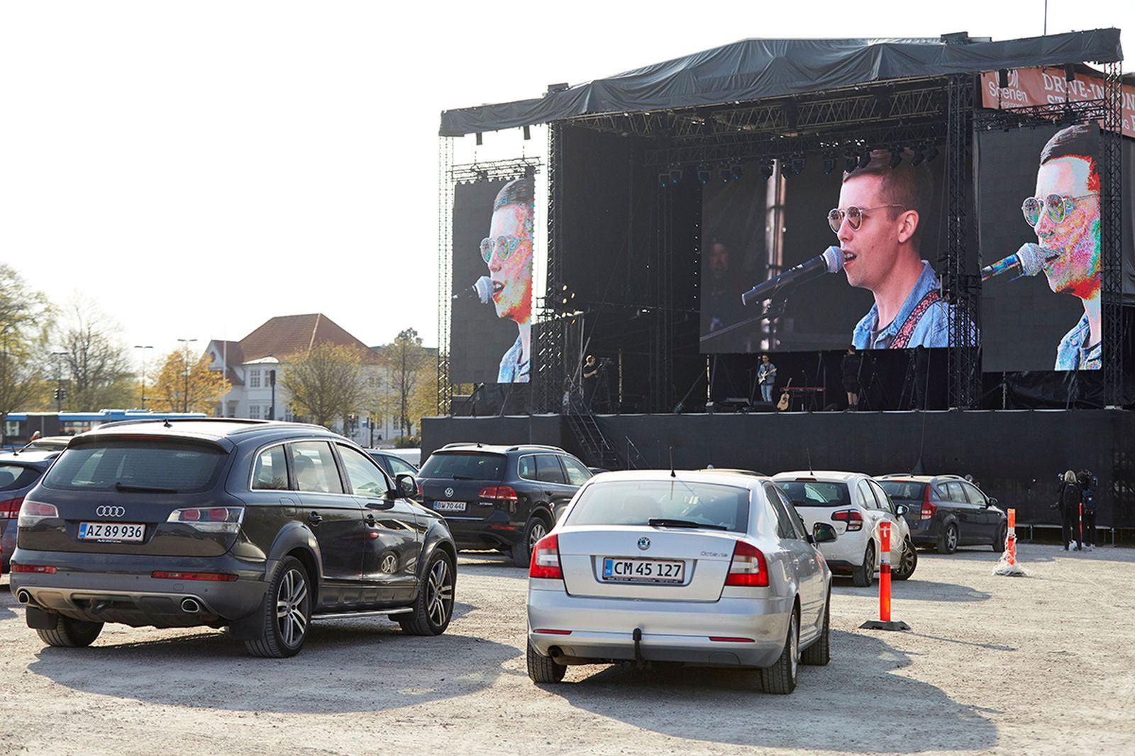 Drive-in concert Denmark