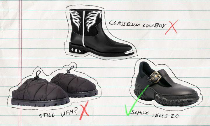 school shoes graphic