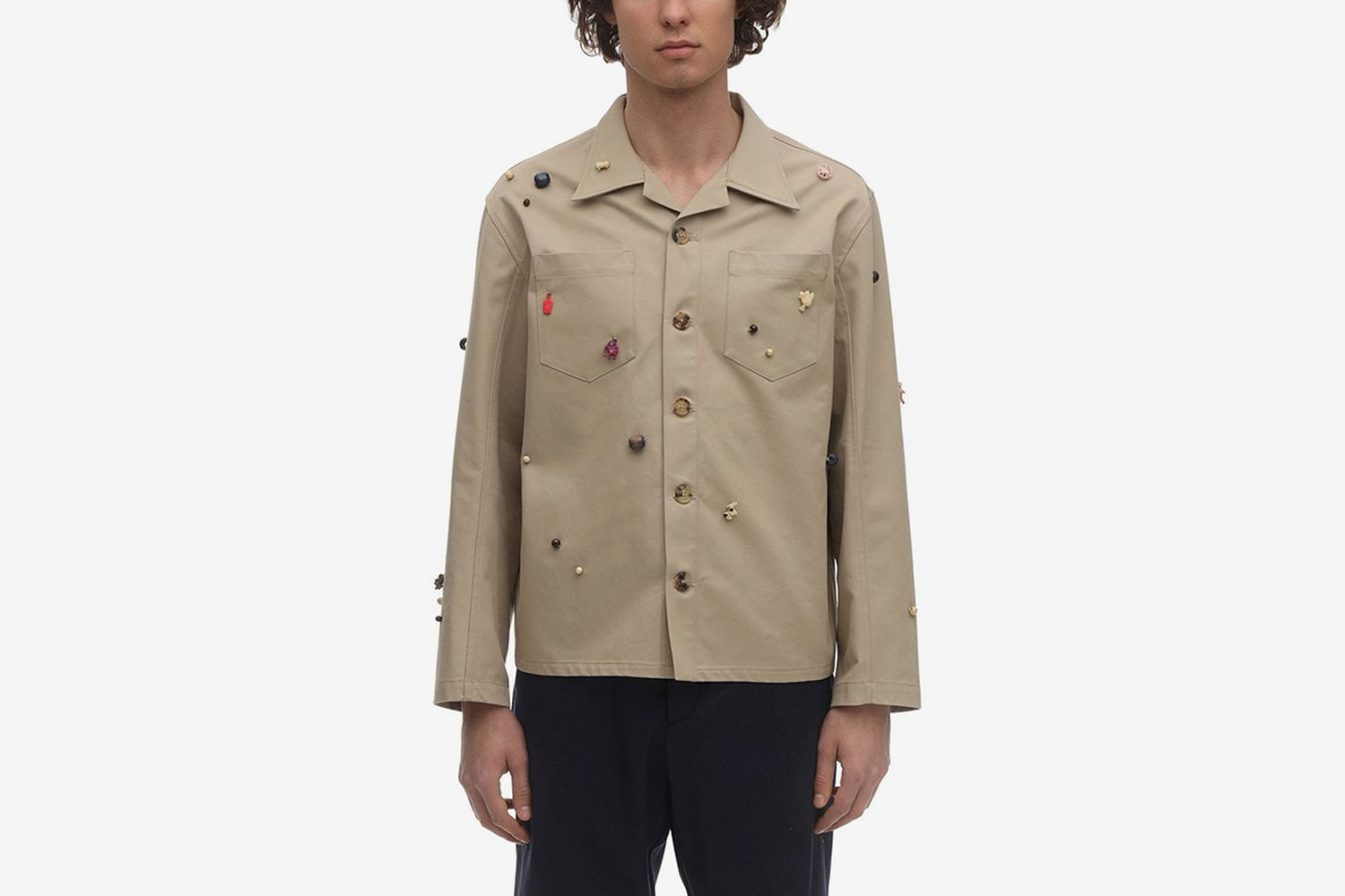 Critter Cotton Canvas Work Shirt