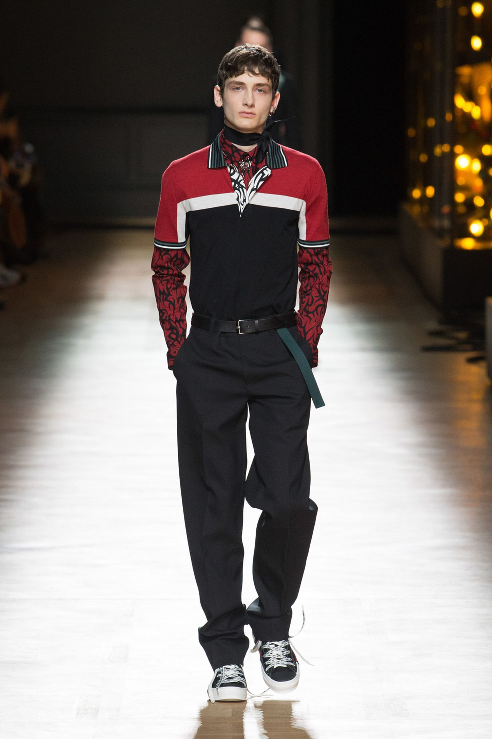 DIOR HOMME WINTER 18 19 BY PATRICE STABLE look13 Fall/WInter 2018 runway