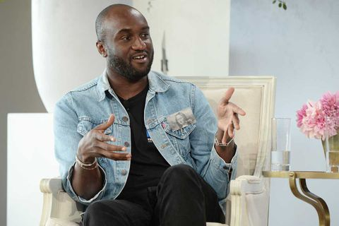 Virgil Abloh speaking at Vogue's Forces of Fashion Conference