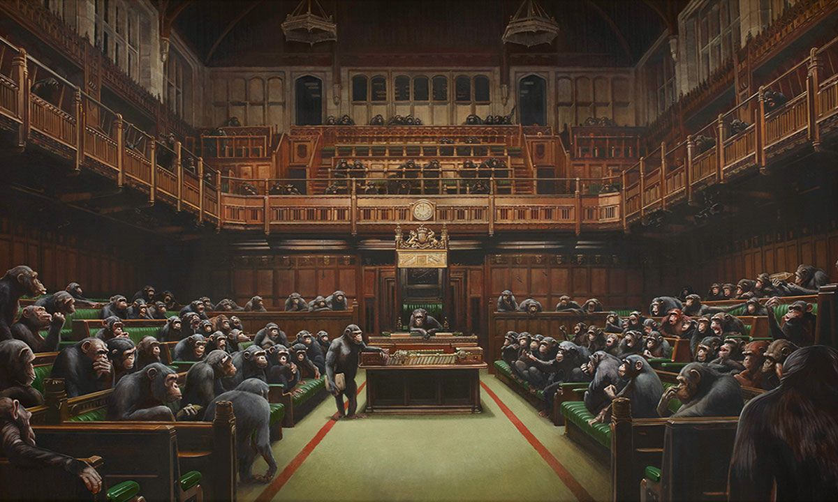 Banksy's 'Devolved Parliament' Painting Could Sell For a Record-Breaking $2 Million