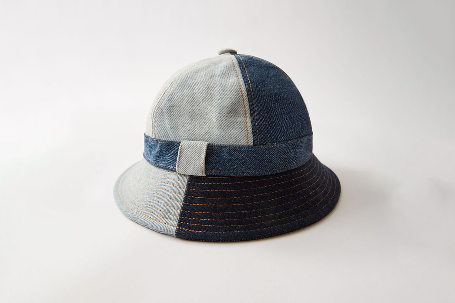 Denim Patchwork Bucket Hat