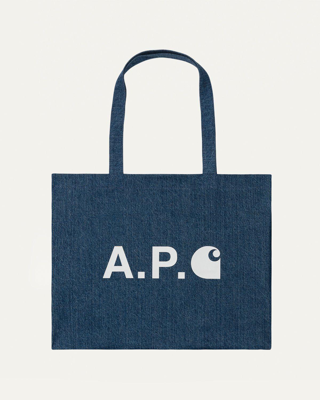 A.P.C. x Carhartt WIP - Alan Shopping Bag Indigo - Image 1