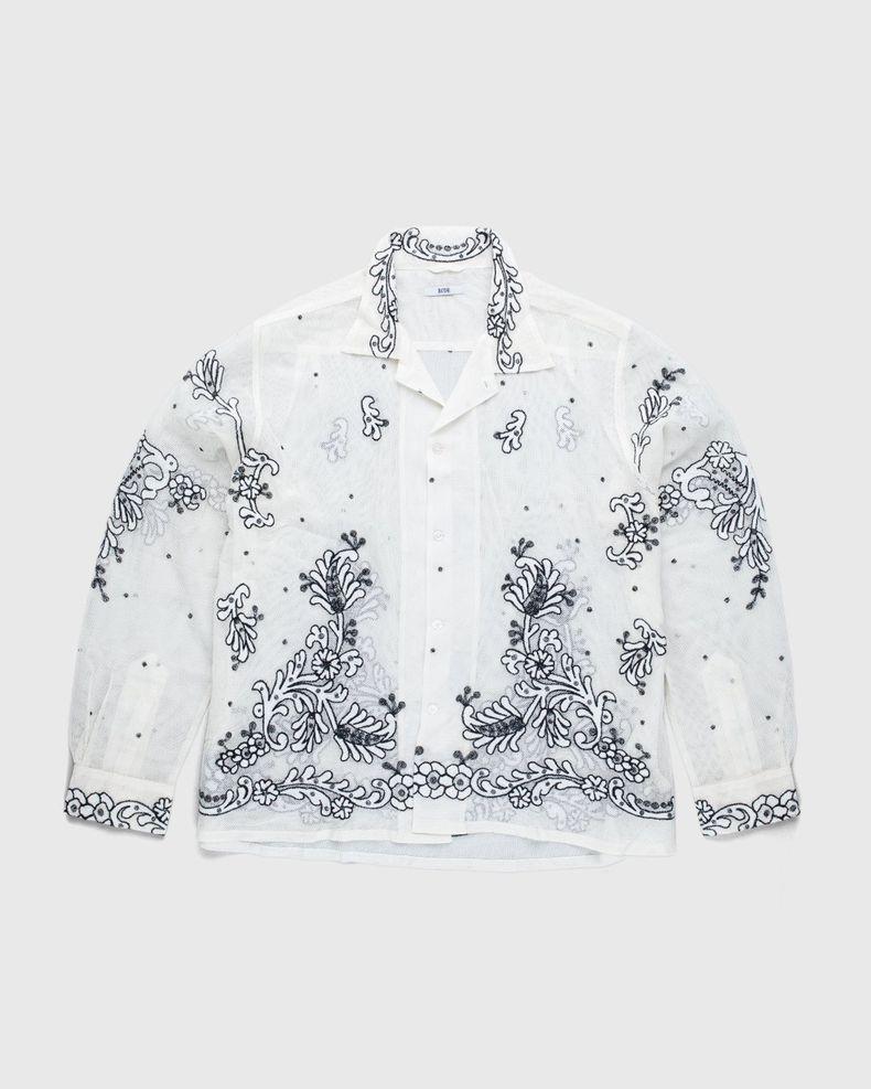 BODE — Bevel Embroidered Longsleeve Shirt Ecru