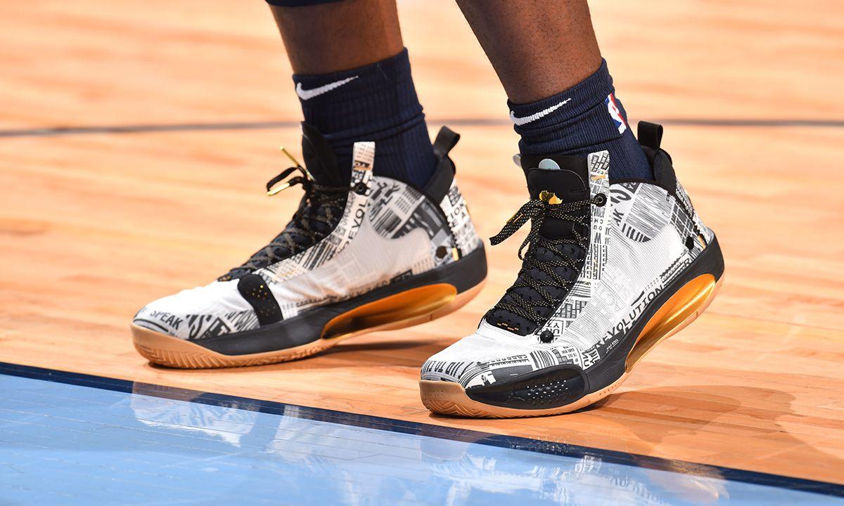 "barato En general Parámetros  Zion Williamson Debuted the Nike Air Jordan 34 ""BHM"""