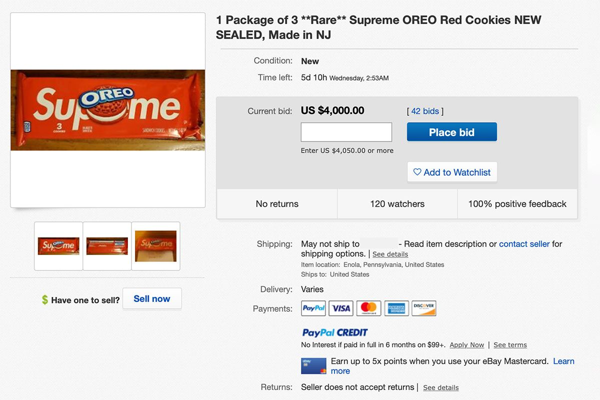 Supreme S Unreleased 8 Oreos Are Reselling For Thousands On Ebay