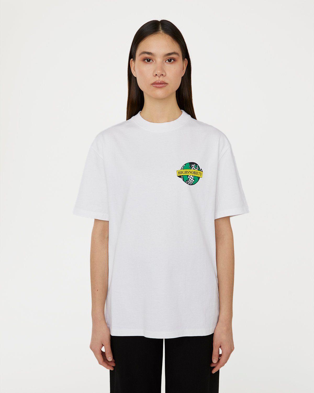 Highsnobiety x L'AS du FALLAFEL — rue des Rosiers T-Shirt White - Image 6