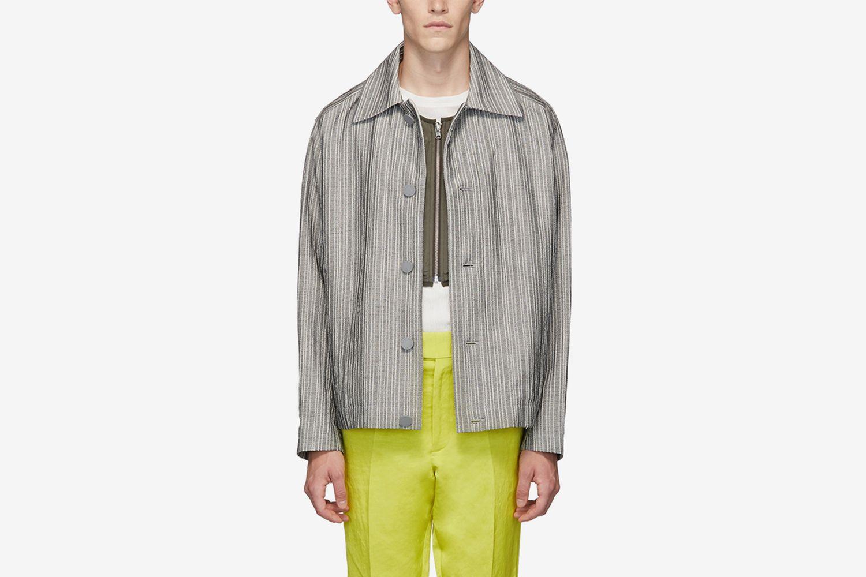Flat Yarn Crepe Jacket