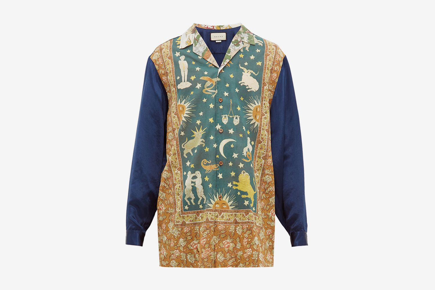 Zodiac-Print Cotton Shirt