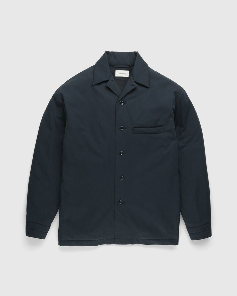 Lemaire – Wadded Brushed Overshirt Vulcan Blue