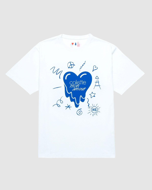 Colette Mon Amour x EU - White Heart T-Shirt - Image 1