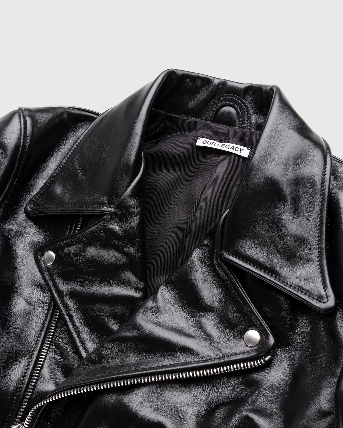 Our Legacy – Hellraiser Leather Jacket Aamon Black - Image 3