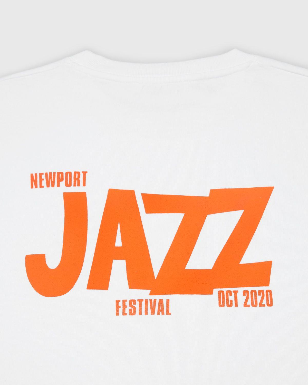 Highsnobiety — Newport Jazz Logo T-Shirt White - Image 3