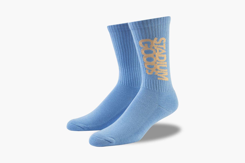 Blue and Cream Socks
