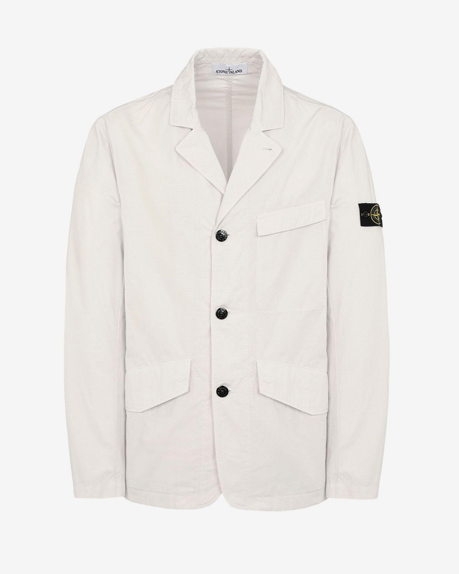1stone island structured cotton blazer