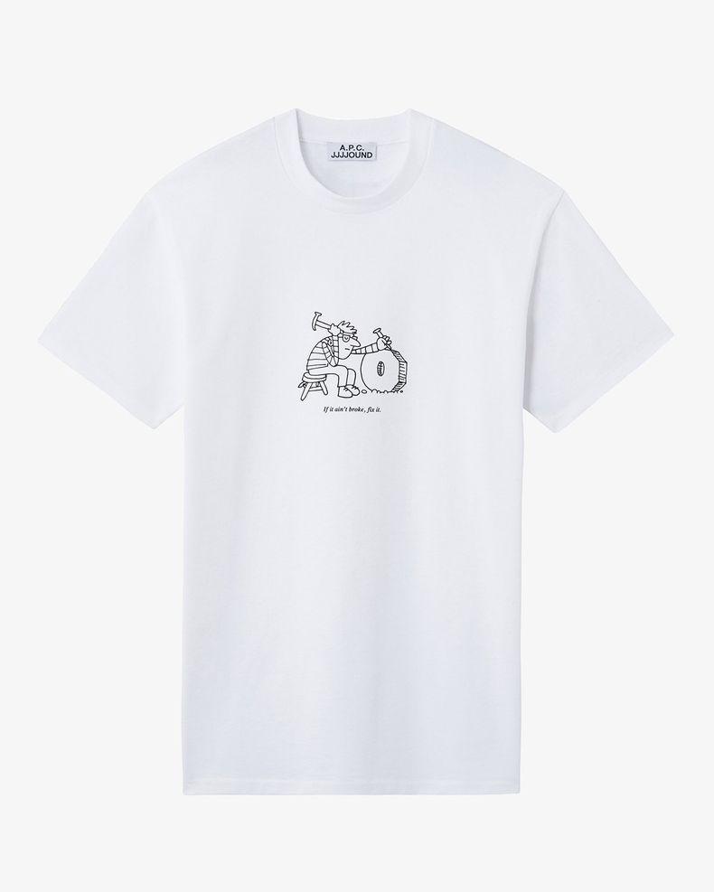A.P.C x jjjound — T-Shirt Rough White