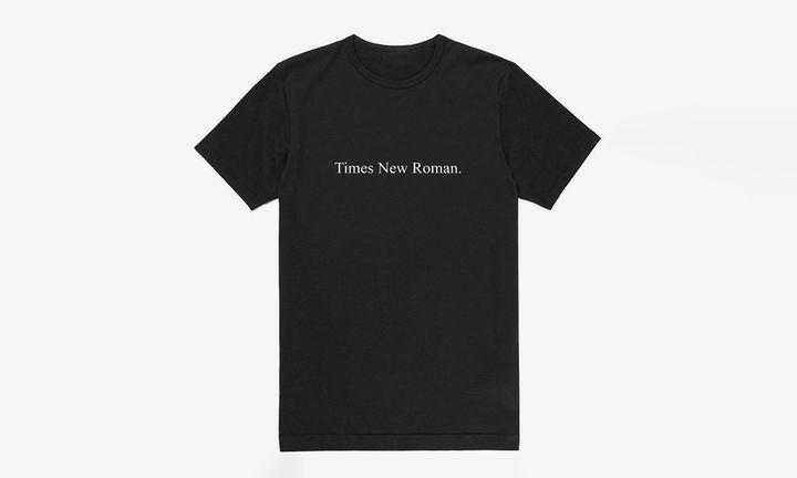 times new roman black t-shirt