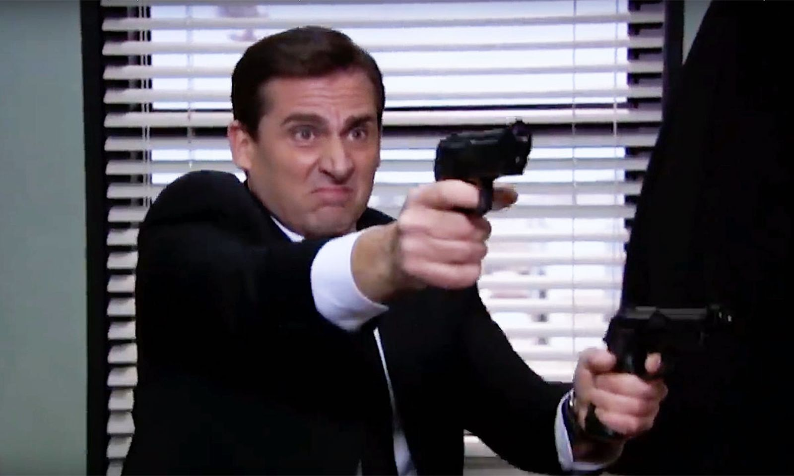 Steve Carrell in 'The Office' action film 'Threat Level Midnight'