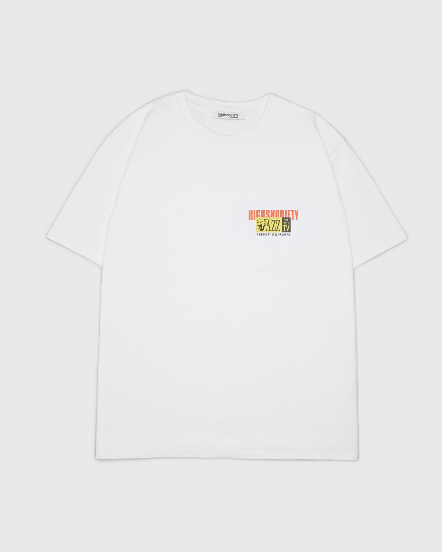 Highsnobiety — Newport Jazz Logo T-Shirt White - Image 2
