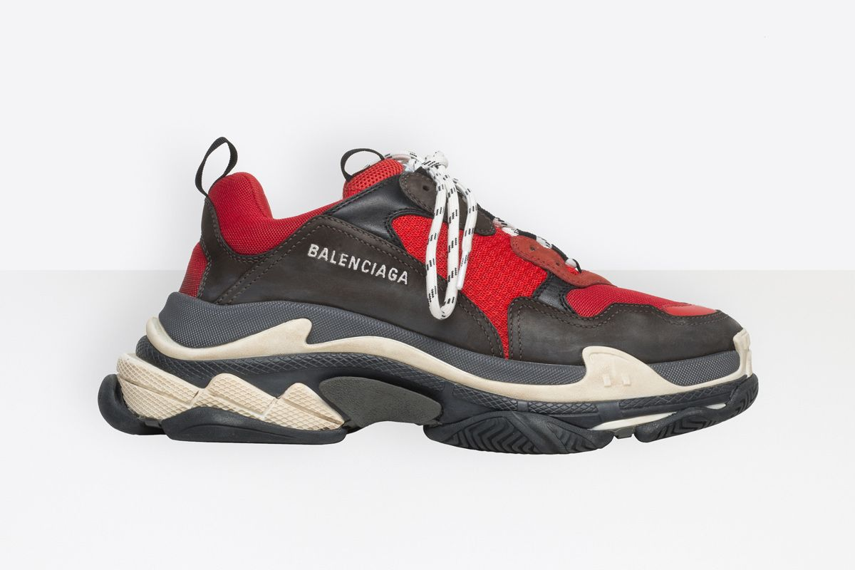 Balenciaga Synthetic Triple S Trainer in Black for Men
