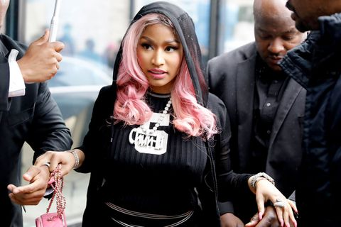 Nicki Minaj with escorts