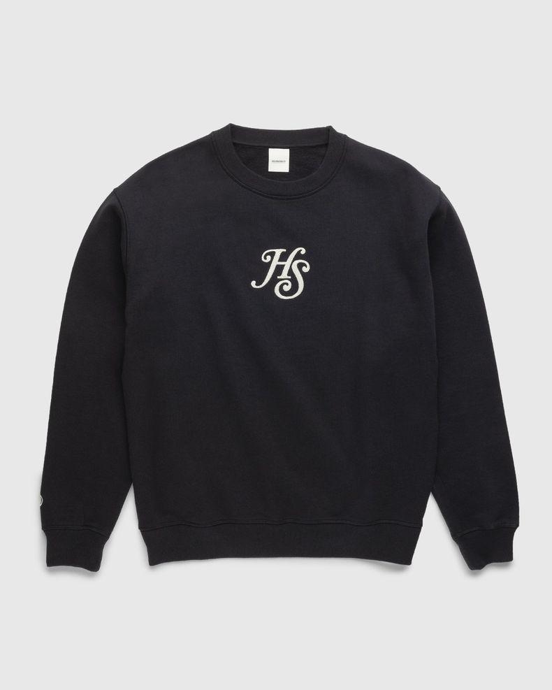 Highsnobiety – Classic Logo Fleece Crew Black